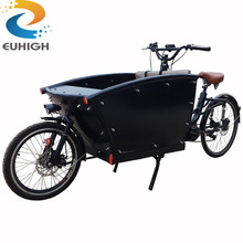Europe front loading two wheel electric cargo bike used