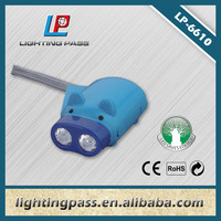 2LED pig hand --pressing LED dynamo flashlight