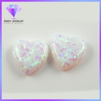 Wholesale Price Of White Opal Heart Cabochon Opal Stones
