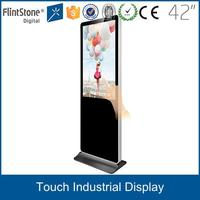 Hot fashion free standing 42 inch touch screen kiosk, USB powered touch screen interactive kiosk hardware lcd monitor