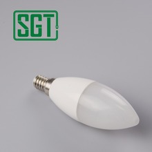C37 5w 6w7w candle lamp IC driver E12 E14 led candle light bulb very small led light for home decoration