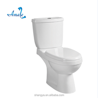 Washdown 4 inch two-piece Toilet Seat sanitary ware high quality two piece water closet toilet bowl
