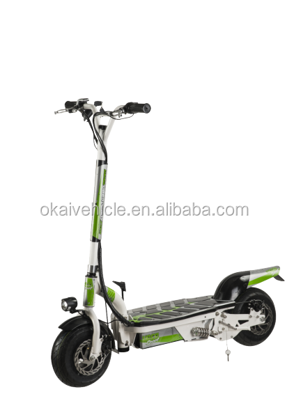 Max load 120kg easy driving lightest electric scooter with front light