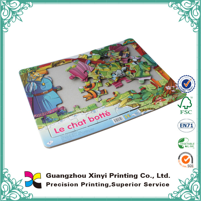 2015 best seller eco-friendly cardboard sublimation paper jigsaw puzzle for kids