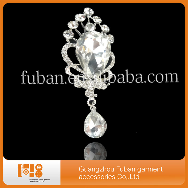 crystal rhinestone brooch hijab pin for wedding invitation dresses and scarf clips