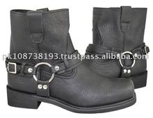Leather Motorcycle Biker Boots