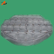 Wire mesh demister pad tower internal mass transfer internal