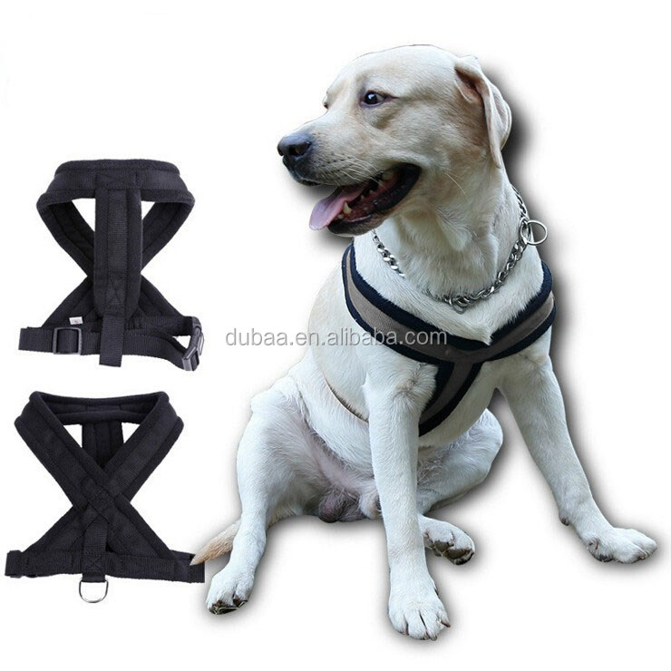 Dubaa Pet Supplies Dog Suspender for Large/Medium/Small Size Pet Dogs, Polyester Black,Blue and Red