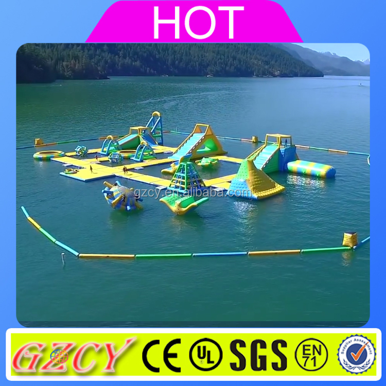Hot sale mini inflatable water park amusement park rides for sale