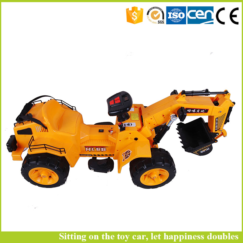 Hot sale baby ride on car kids toy electric excavator toy truck with remote control