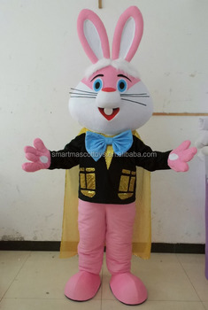 adult pink bunny rabbit easter mascot costumes