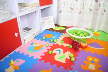 Colorful waterproof baby EVA foam Jigsaw animals puzzle mats for educational use