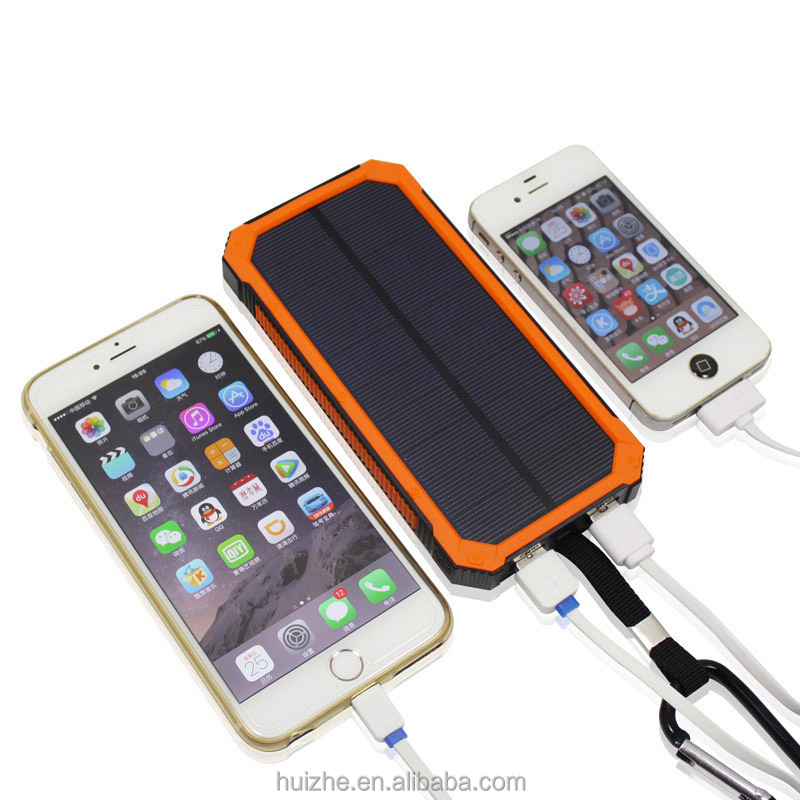 High Capacity solar automatic mobile charger solar power supplies solar charging treasure