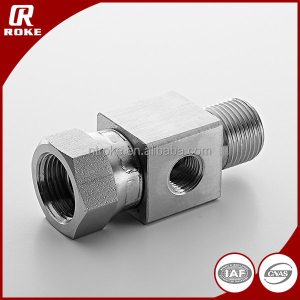 Stainless Steel 3 Way Hydraulic Pipe Fitting Connector Adapter