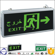 Factory lowest price led light wall mounted running man double sided led exit sign