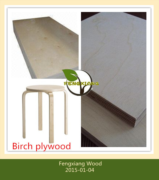 Triply core laminated furniture grade birch plywood