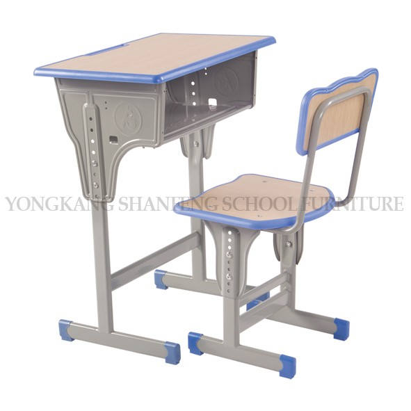 China manufacturer furniture school desk with attached chair