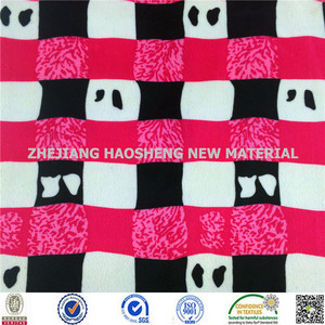 Polyester ef Panda/Cartoon Print Velboa Fabric Paper Print ef Velboa Fabric for Baby Use