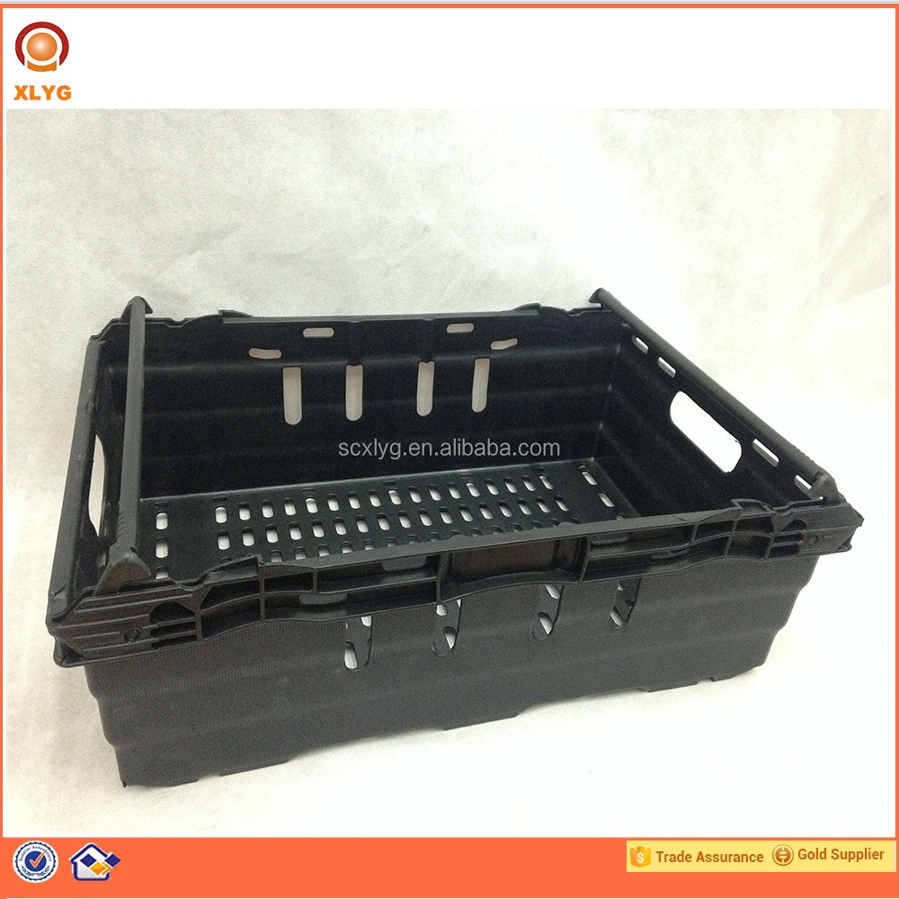 Eco-friendly Material Recycle Fruit Vegetable Plastic Crates For Promotion