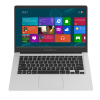 Z8350 CPU 14 inch Laptop Android and win 10 Ultrabook tablet pc in Wholesale