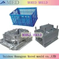 hot sale high quality competitive price plastic fruit and vegetable crate mould