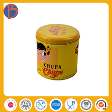 for christmas gift candy tin can round shape candy tin can