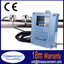 Non invasive transit time fixed wall mounted clamp on Ultrasonic Flowmeter/ heat flow meter