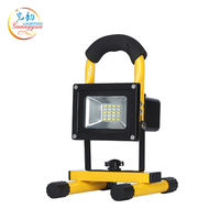 Outdoor waterproof stadium construction site rechargeable led flood light 10w