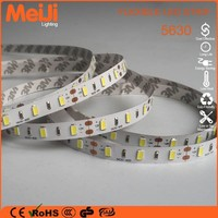 6000k white color 5630 smd 12v flexible strip led