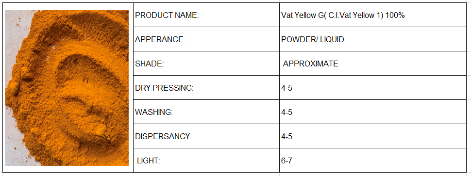 Vat Yellow G( C.I.Vat Yellow 1) 100%