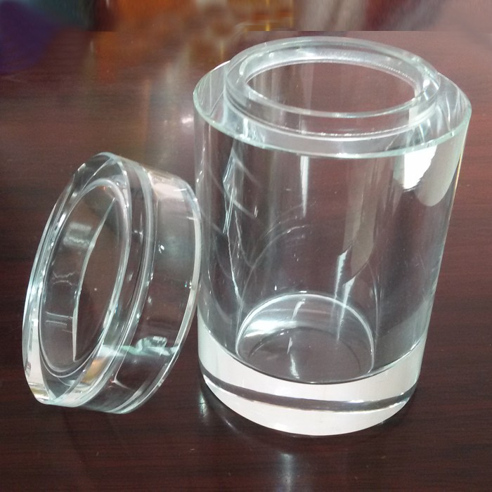 Round Clear Crystal Glass Jar Wholesale Crystal Jars