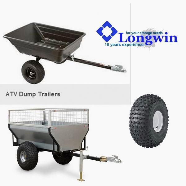 off road 2 wheels atv cargo trailers
