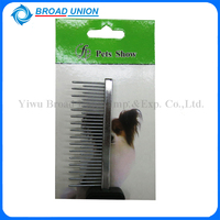 Dog Grooming Brushes Plastic Handle Stainless Steel Round Head Tooth Pet Comb