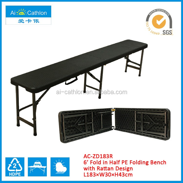 6FT Portable Folding Camping Picnic Bench Indoor Outdoor Garden Party Dining BBQ Bench
