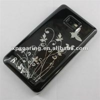 black case butterfly cover for samsung galaxy S2 i9100