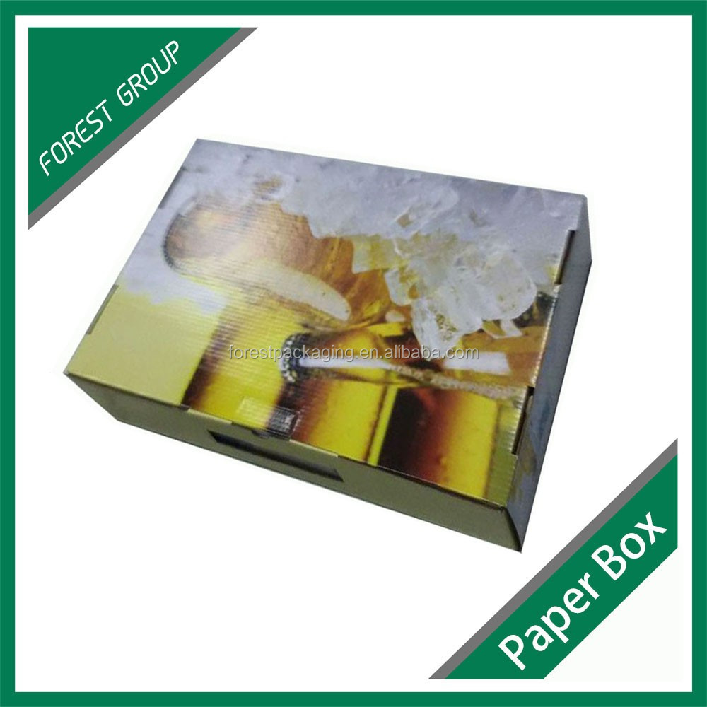 Corrugated Paperboard Beer Bottle Box Wholesale Custom Printing Coffee,Milk,Beer,Drinks Packing Carton Box Price