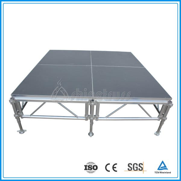 TUV certified anti-slip plywood/acrylic assemble outdoor concert stage equipment