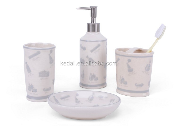 Crack Glazed Functional Bathroom Set For Bathroom
