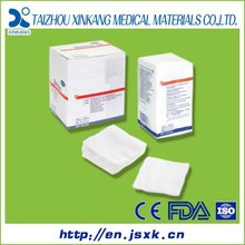 CE&FDA certificates sterile gauze compress sterile gauze swabs 100% cotton