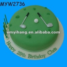 golf course resin gift birthday cakes miniature artificial food