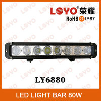 10W LEDs super bright led light bar, Car led light bar, 80W Off road led bar light