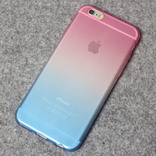 Color Changing Cell Phone Case for Iphone 4s 5s, Gradient Color Crystal TPU Transparent Gradient Mobile Phone Case for iphone 6s