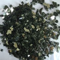 Crushed colored tempered reflective fire glass chips for fireplace
