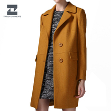 OEM fashion high quality women winter wool /woolen long coat