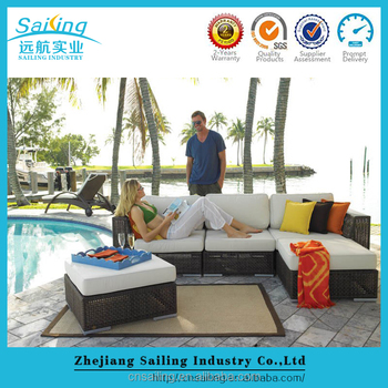 Hot Sell Luxury All Weather 100% Handmade Durable rattan used outdoor sofa