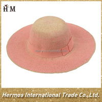 Cheap summer cute floppy paper straw hat for kids