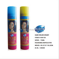 Professional hair color temporary spray