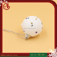 White Snow Foam Different Size Christmas Ball For Xmas Tree Dressed Up Plastic Toys