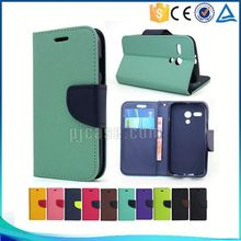 Mixed colors card slots leather flip case phone accessory for Blackberry Leap Z20