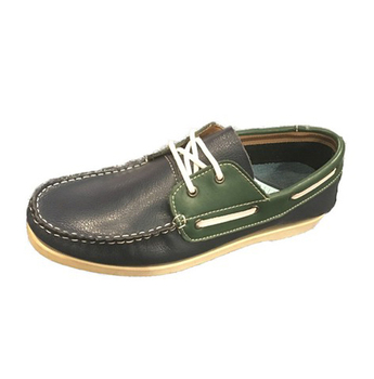 Man Black Action Leather Casual Shoe Original Boat Shoe